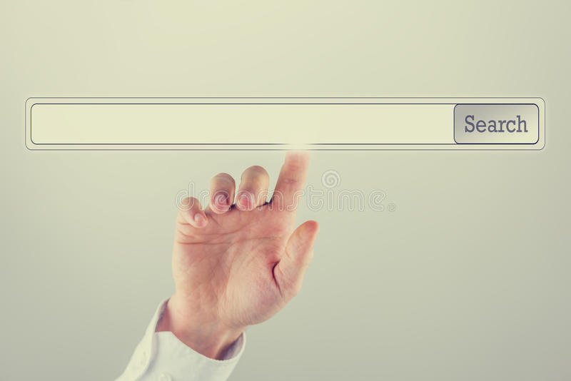 Download Blank Search Bar Ready For Your Keywords Or Website Adress Stock Image - Image of operator, data: 39501957