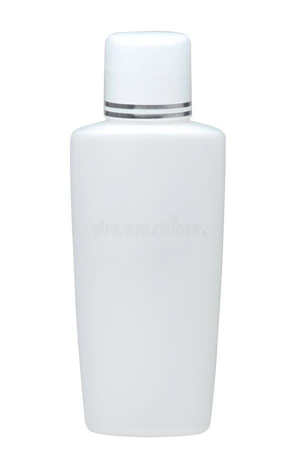 Blank shampoo bottle isolated stock images