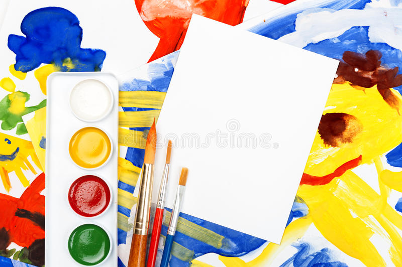 Download Blank Sheet With Collage Of Illustration Royalty Free Stock Image - Image: 28924246