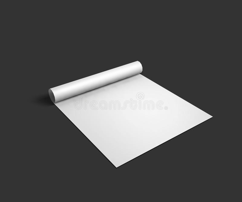 Download Blank Sheet Mockup Template With Page Curl And Stock ...