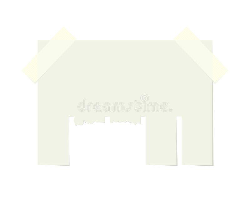 Blank Sheet Paper Advertising. Empty blank sheet paper advertising with tear-off cut slips. Information banner isolated on white background, illustration vector illustration