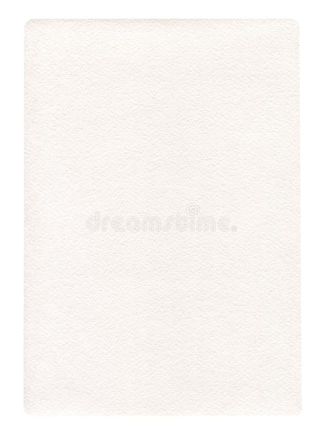 White paper isolated. Blank sheet of paper. Bank white paper isolated royalty free stock images