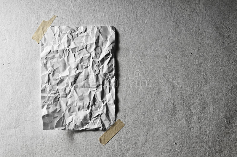 Blank Sheet Of Paper Crumpled Stock Photos