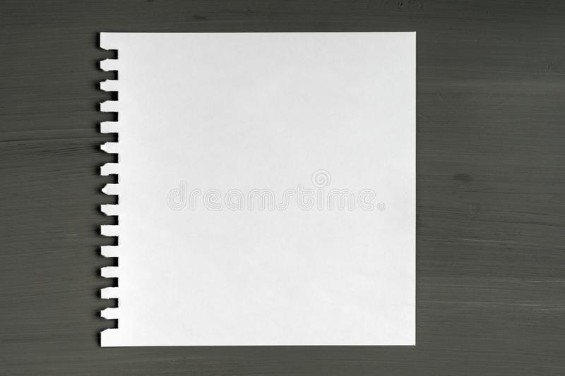 Blank sheet of paper on wooden background royalty free stock photos