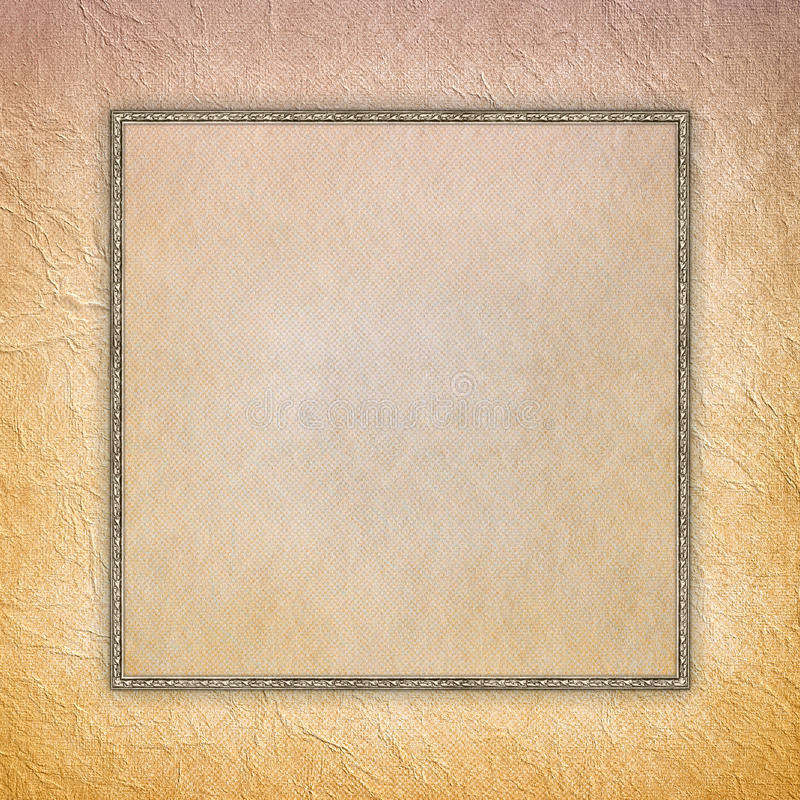 Download Blank Sheet In Picture Frame On Paper Background Stock Photo - Image of background, ancient: 39510918