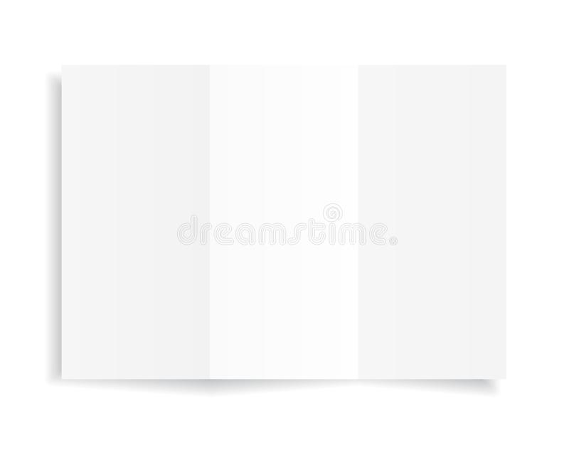 Blank A4 sheet of white paper with shadow, template for your design. Set. Vector illustration royalty free illustration