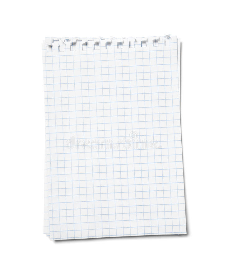 Blank sheets of paper stock image