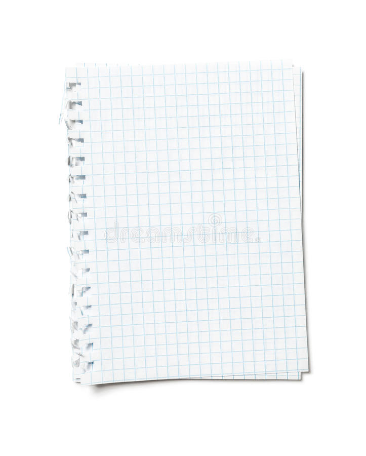 Blank sheets of paper stock images