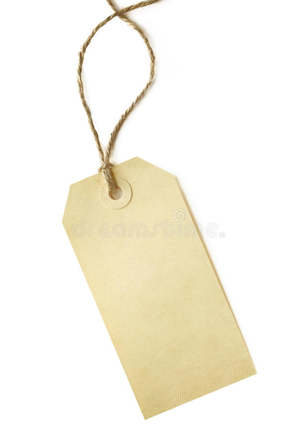 Download Blank Shipping Tag stock photo. Image of twine, close - 11235054