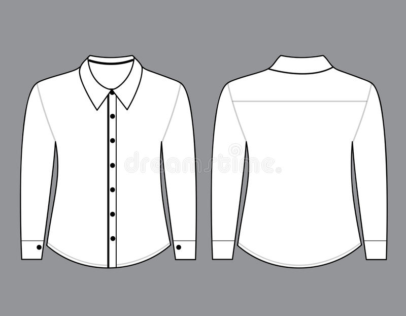 blank shirt with long sleeves template stock illustration illustration of shop black 48698837. Black Bedroom Furniture Sets. Home Design Ideas
