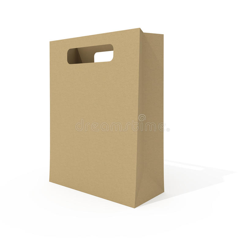 Download Blank shopping bag stock illustration. Image of ideas - 14965786