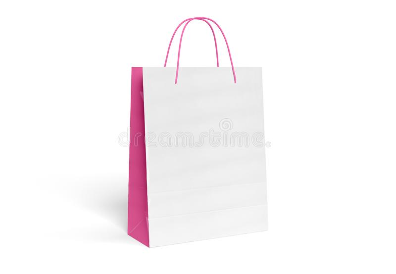 Blank Shopping Bag Mockup Isolated 3d Rendering Stock
