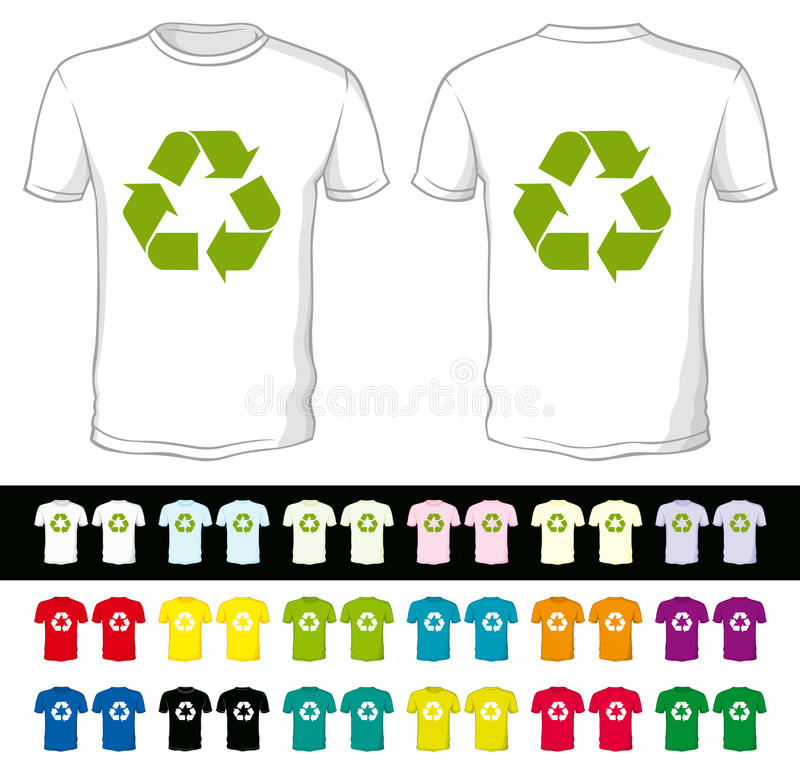 Download Blank Shorts With Recycling Symbol Stock Vector - Image: 18656988