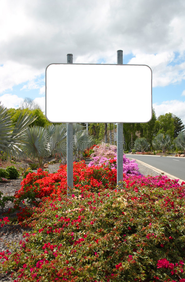 Blank sign stock photography