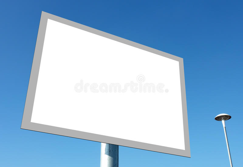 Blank sign stock illustration