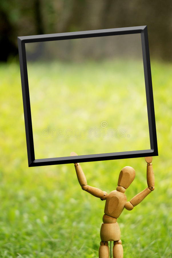 Download Blank sign stock image. Image of idea, frame, marionette - 6186723