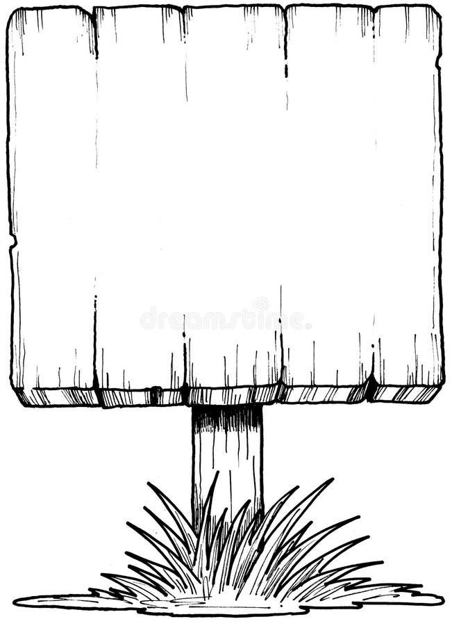 Blank Sign royalty free illustration