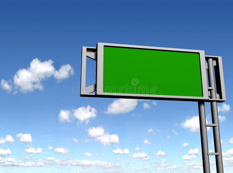 Blank sign board royalty free stock photo