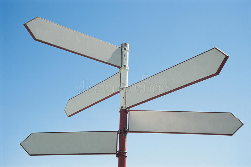 Blank sign post royalty free stock photos