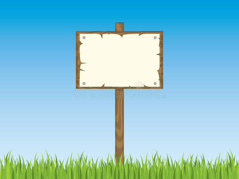 Download Blank sign post with grass stock vector. Image of board - 7768725