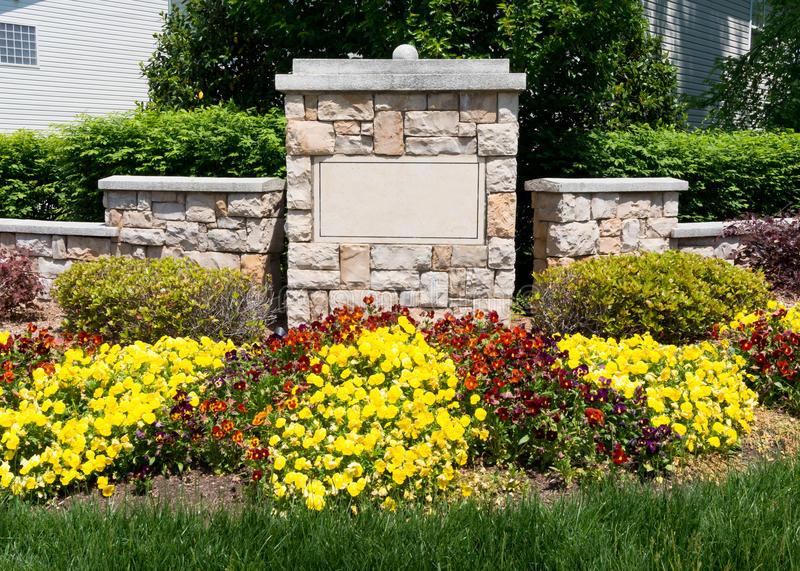Download Blank Sign Of The Subdivision Entrance Stock Photo - Image: 40480936
