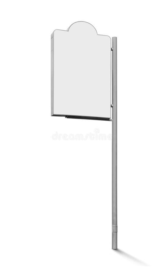 Blank signboard. Isolated on white background stock photo