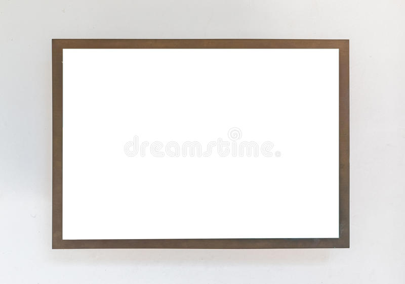 Blank Signboard Template For Text On The Wall. Stock Image - Image ...