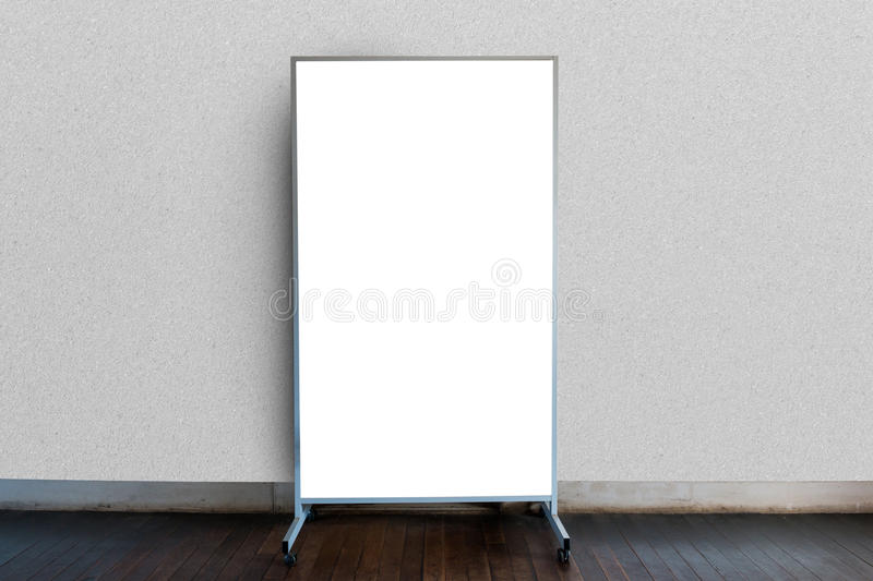 Blank Signboard Template For Text On The Wall. Stock Photo - Image ...
