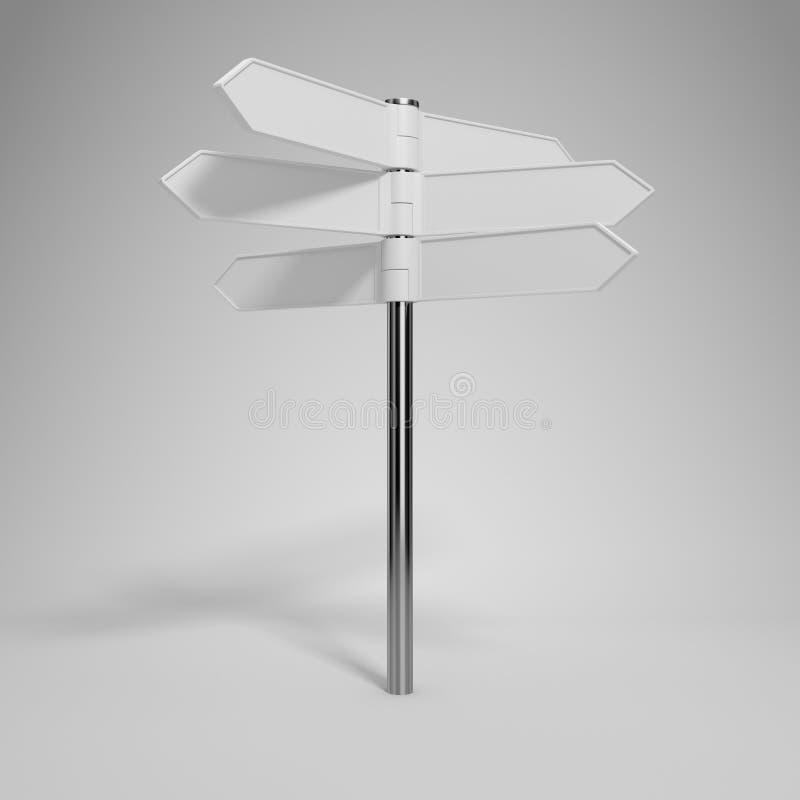 Blank signpost vector illustration