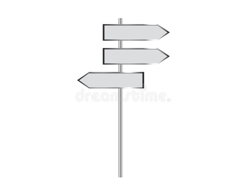 Blank signpost. Vector illustration of a blank signpost stock illustration
