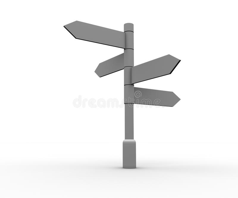 Blank Signpost Standing Stock Images