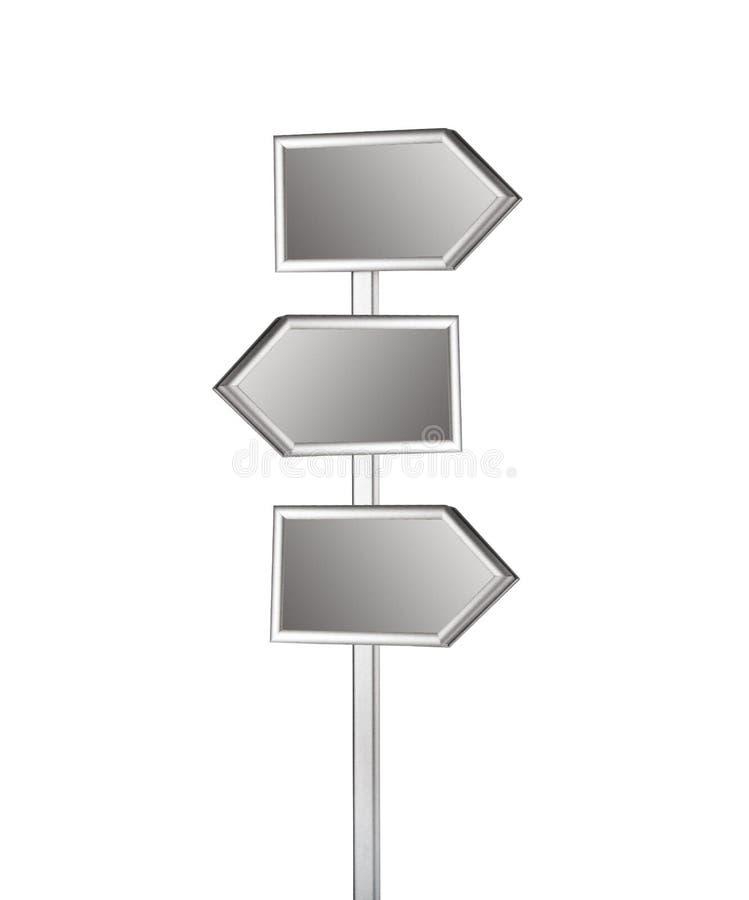 Blank signpost. On white background vector illustration