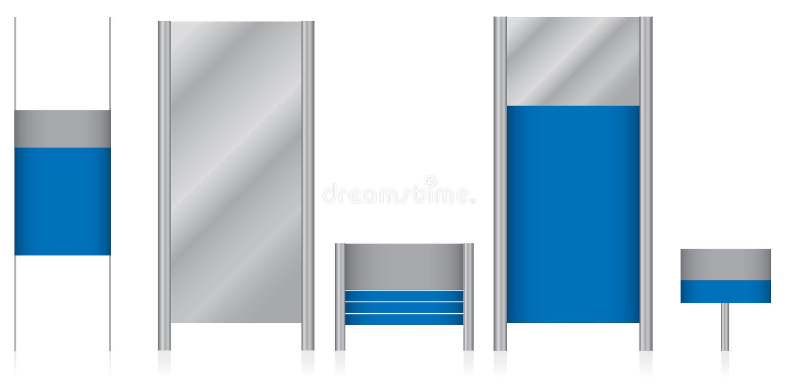 Blank Signs Royalty Free Stock Photos