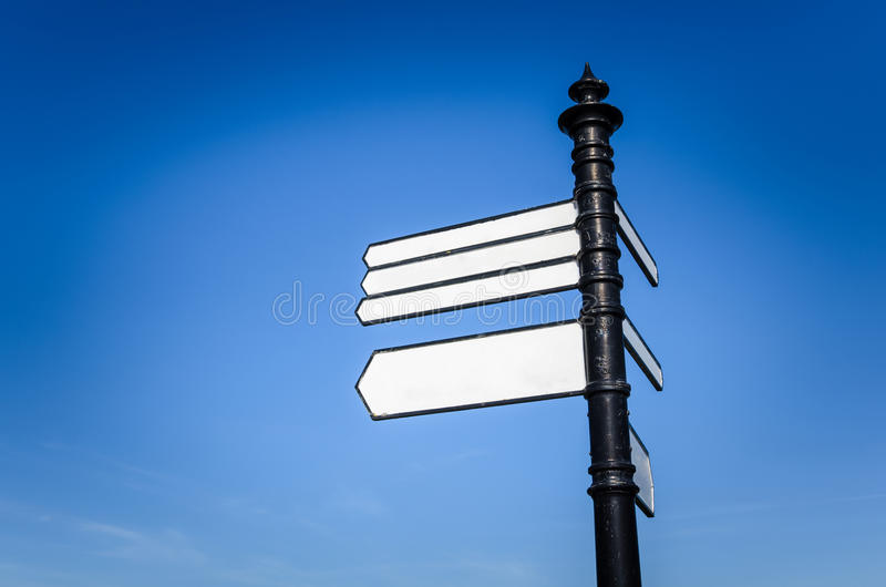 Blank Signs and Blue Sky stock photos
