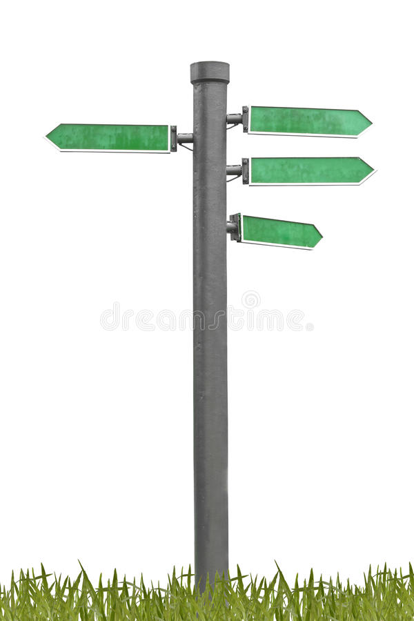 Download Blank signs pointing stock photo. Image of pole, opposites - 22882206