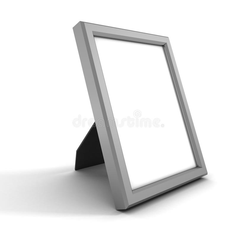 Blank silver picture or photo frame at white royalty free illustration