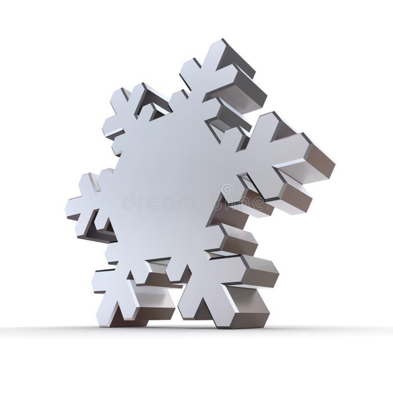 blank silversnowflake för krom stock illustrationer