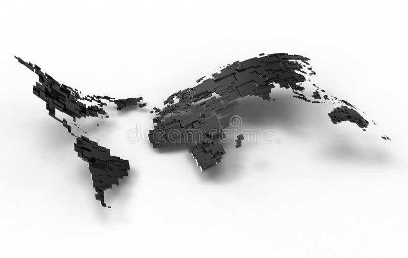 blank silverwave för jord royaltyfri illustrationer