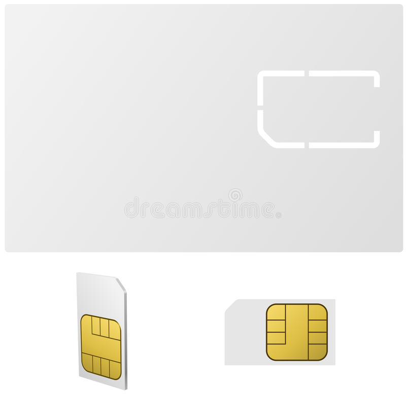 Blank Sim Card Vector Template Stock Vector - Image: 44441387