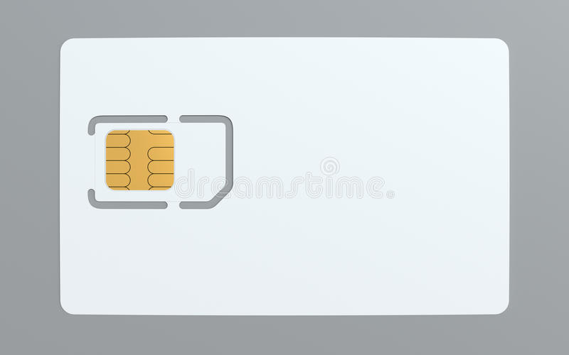 Blank Simcard Template Stock Illustration. Image Of Connection