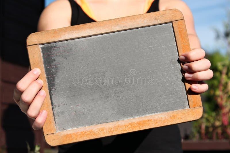 Blank slate royalty free stock photo