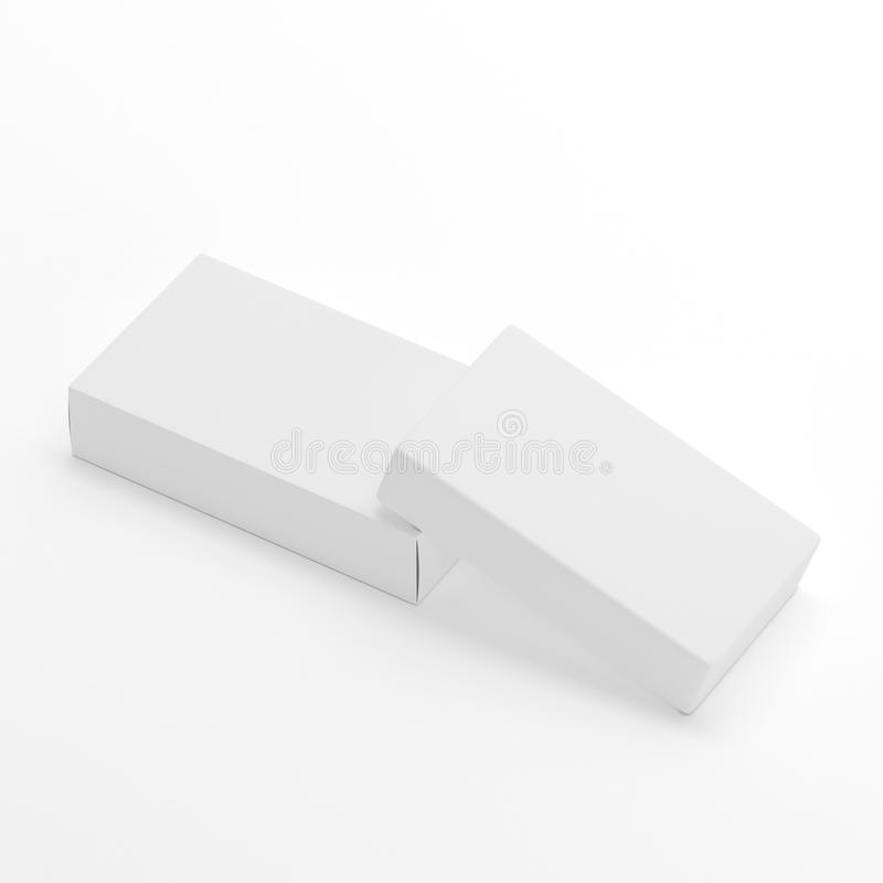 Blank soap box packaging mock up template on white for Soap box design template