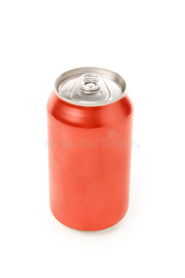 Blank soda can. With white background royalty free stock photography