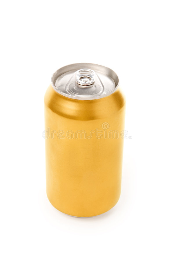 Blank soda can. With white background stock photos
