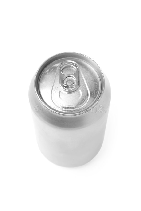 Blank soda can. With white background royalty free stock photo