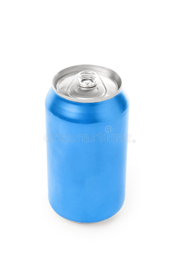 Blank soda can. With white background royalty free stock image
