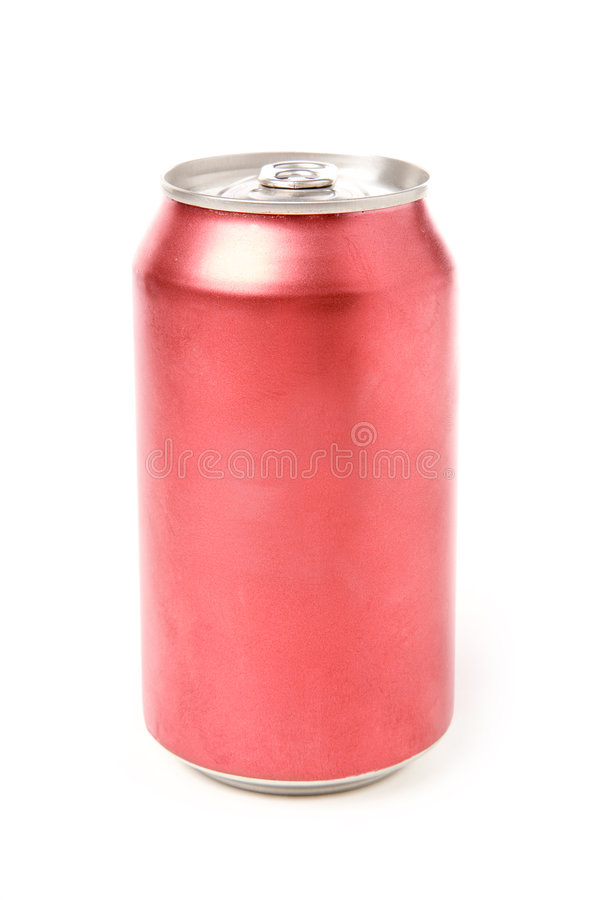 Blank soda can. With white background royalty free stock images
