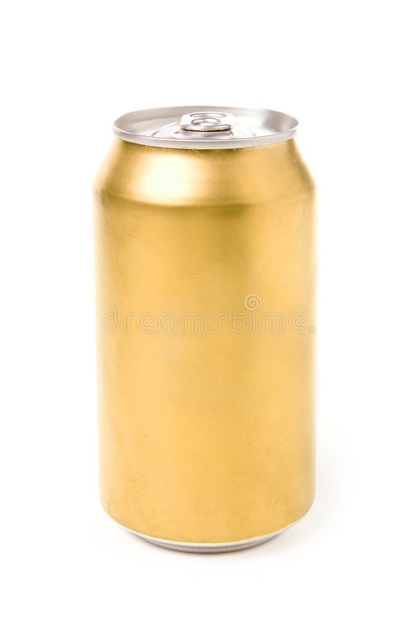Blank soda can. With white background stock image