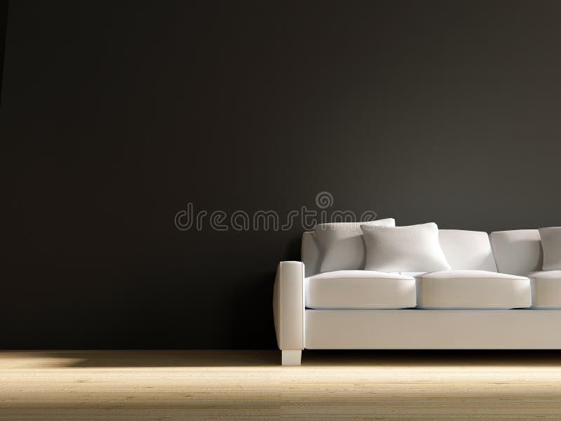 blank soffaframsidan för att wall