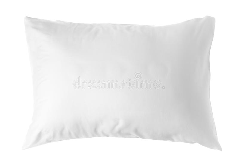 Blank soft pillow. On white background royalty free stock photo